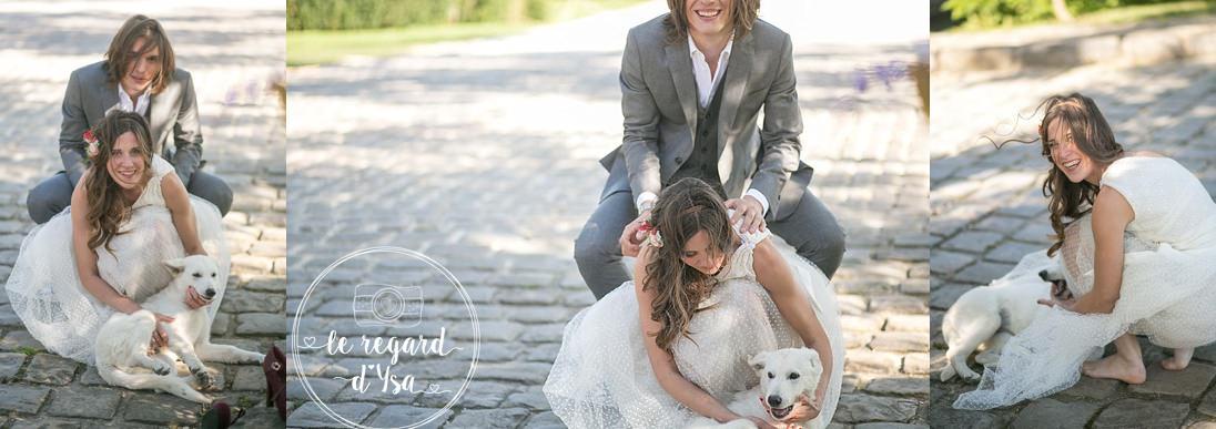 les marie et le chien