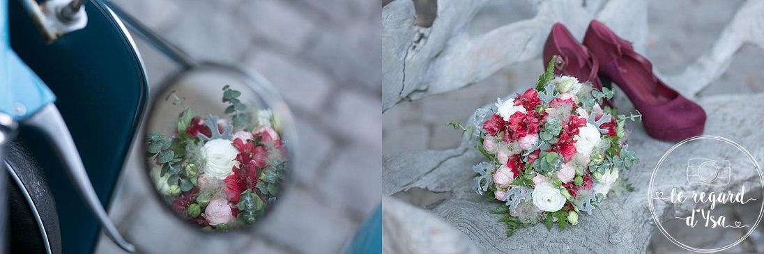 bouqet de fleurs et chaussure
