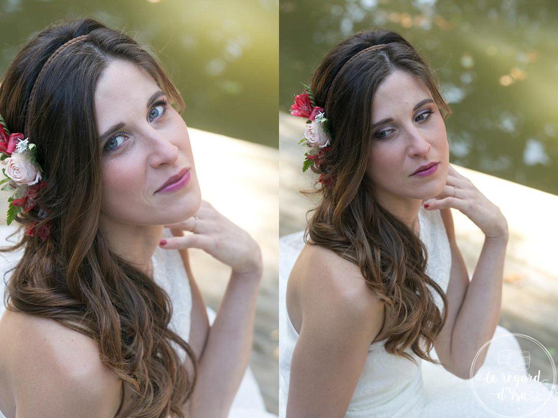 la mariee et sa coiffure - Mariage Domaine De Quincampoix